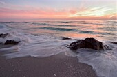 Sunset over Gulf of Mexico from Caspersen Beach, Gulf Coast, Venice, Florida
