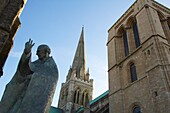 Chichester Cathedral  Construction on the cathedral began in 1076, and was completed in 1108