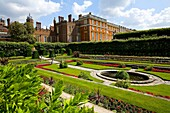 Ornamental Gardens, at Hampton Court Palace, Surrey, west London