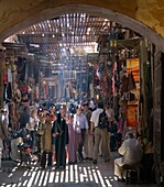 The Souks near to Jemaa El Fna Square in Marrakech  Morocco