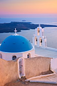 Agios Minas Church in Firostefani, Santorini Island, Cyclades, Greece