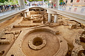 The ruins of old city under New Acopolis Museum, Athens, Greece