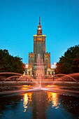 Warsaw, Palace of Culture and Science, Poland, Europe
