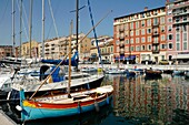 Colorful Wooden Boats & Reflections in the Old Port Nice Alpes-Maritimes France