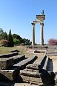 Roman Temple at Ruined Roman Town of Glanum Saint-Rémyède-Provence Alpilles Provence France