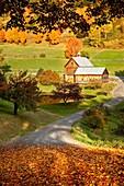 Autumn at Sleepy Hollow Farm near Woodstock, Vermont USA