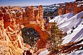 Natural Bridge rock formation, Bryce Canyon National Park, Utah USA