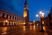 Piazza San Marco just before dawn, Venice Veneto Italy