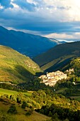 Medieval town of Preci in the Valnerina, Monti Sibillini National Park, Umbria Italy