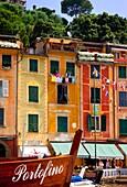 Tiny seaport town of Portofino, Liguria Italy