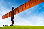 England, Tyne and Wear, Gateshead  The iconic Angel of the North statue by Antony Gormley  The ´Angel´, built on a a former colliery pit head bath site, is one of the worlds most viewed work of art with over 33 million viewers each year