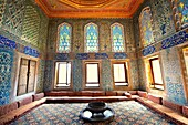 Ottoman  designed tiled rooms of the Crown Prince in the Harem of the Topkapi Palace, Istanbul, Turkey