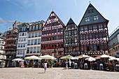 The Römerberg plaza one of the major landmarks in Frankfurt am Main, Germany
