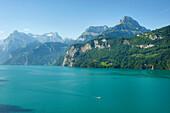 Lake Lucerne with Urirotstock and Urner Alps, Uri, Switzerland, Europe
