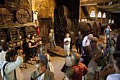 Wine Tourism. Group Tour Of A Calvados Ageing Cellar, Chateau De Breuil-En-Auge, The Cider Road, Calvados (14), France