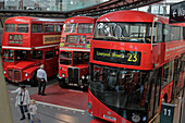 London Busses, Transport Museum Of London (Lt Museum), Covent Garden, London, England