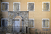 A House With Closed Shutters, Old Fortified Town Of Budva (Stari Grad), Adriatic Coast, Montenegro, Europe