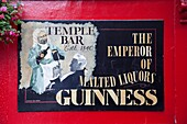 Republic of Ireland,Dublin,Temple Bar,Sign Advertising Guinness