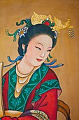 China,Beijing,Summer Palace,Buddhist Fragrance Pavilion,Painted Artwork depicting Portrait of Woman