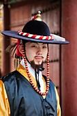 Korea,Seoul,Deoksugung Palace,Ceremonial Guards in Traditional Uniform