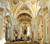 Church of Neustift Convent, Neustift Convent, Brixen, South Tyrol, Italy
