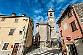 Old church in Torri del Benaco, Lago di Garda, Province of Verona, Northern Italy, Italy