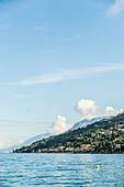 Lake view near near Torri del Benaco, Lago di Garda, Province of Verona, Northern Italy, Italy