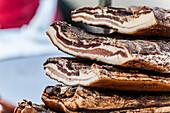 Italian bacon, Lago di Garda, Province of Verona, Northern Italy, Italy