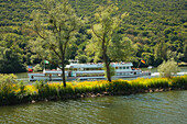 Excursion ship, Mosel river, Rhineland-Palatinate, Germany