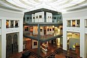 D-Dortmund, Ruhr area, Westphalia, North Rhine-Westphalia, NRW, Museum fuer Kunst und Kulturgeschichte, Museum of Art and Cultural History, interior view, entrance hall, atrium