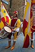 Parade during Palio traditional festival  Siena  Tuscany, Italy.