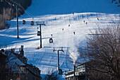 USA, Colorado, Aspen, Aspen Mountain Ski Area, Silver Queen Gondola