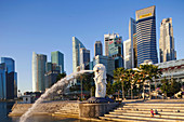 Asia, Singapore, Merlion, Merlion Statue, City Skyline, Cityscape, Skyscrapers, Modern Buildings, Hi_rise, Tourism, Holiday, Vacation, Travel. Asia, Singapore, Merlion, Merlion Statue, City Skyline, Cityscape, Skyscrapers, Modern Buildings, Hi_rise, Touri