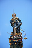 Travel, Geography, Culture, Europe, Switzerland, Bern, City, Town, Figure, Fountain, Justice, Justitia, Symbol, Balance, Sword, Vertical. Travel, Geography, Culture, Europe, Switzerland, Bern, City, Town, Figure, Fountain, Justice, Justitia, Symbol, Balan