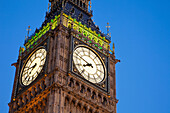 UK, United Kingdom, Great Britain, England, London, Westminster, Houses of Parliament, Palace of Westminster, Big Ben, Parliament, Landmark, Clocks, Clock face, UNESCO, UNESCO World Heritage, Sites, Evening, Night View, Illumination, Tourism, Travel, Holi