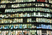 UK, United Kingdom, Great Britain, Britain, England, London, Southwark, More London Piazza, Offices, Office Building, Office Lights, Office Windows, Business, Architecture, Modern Architecture, Graphic, Night View, Night Lights, Illumination, Norman Foste