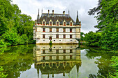 France, Europe, travel, Loire Valley, Azay le Rideau, architecture, castle, cloudy, history, Loire, medieval, pond, reflection, tourism, Unesco. France, Europe, travel, Loire Valley, Azay le Rideau, architecture, castle, cloudy, history, Loire, medieval,