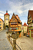 Germany, Europe, travel, Rothenburg, Romantic Road, Plonlein, Siebers, Kobolzell, architecture, Bavaria, colourful, gate, history, house, old, road, romantic, symbol, tower, traditional. Germany, Europe, travel, Rothenburg, Romantic Road, Plonlein, Sieber