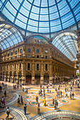 Italy, Europe, travel, Milano, Milan, Vittorio Emanuele, Galleria, architecture, center, city, downtown, gallery, glass, mosaic, people, shopping, tall, tourism,. Italy, Europe, travel, Milano, Milan, Vittorio Emanuele, Galleria, architecture, center, cit