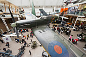 UK, United Kingdom, Great Britain, Britain, England, Europe, London, Imperial War Museum, Super Marine Spitfire Mark 1A, Spitfire, Plane, Planes, Aeroplane, WWII, world war, Museum, Interior. UK, United Kingdom, Great Britain, Britain, England, Europe, Lo