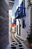 Narrow Lane, Old Town, Mykonos, Greece Greek Islands