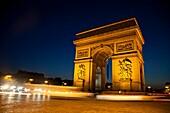Arc de Triomph de l´Etoile, triumphal arc, Place Charles de Gaulle, Paris, France, Europa