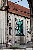 Feldherrnhalle with the statue of Johann Tserclaes, Count of Tilly, Odeonsplatz, Munich, Germany