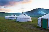 Mongolia, Ovorkhangai province, Orkhon valley, tourist yurt camp