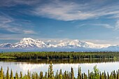 View of Wrangell-St  Elias National Park from Richardson highway, Alaska, U S A