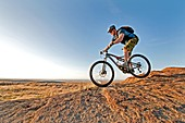 Mountain biking the Upper Sugarloaf Trail at Indian Springs in the Goose Creek Mountains in southern Idaho