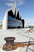 Scotland´s Riverside Museum of Transport and Travel in Glasgow designed by architect Zaha Hadid on the North Bank of the River Clyde UK