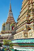 Thailand, Bangkok, Wat Phra Kaeo Temple, Grand Palace, decorative details