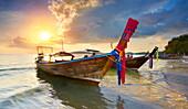 Thailand, Krabi province, Phang Nga Bay, sunset time on the beach