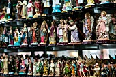 Catholic devotional objects for sale in a religious shop in Bogota, Colombia, May 27, 2010